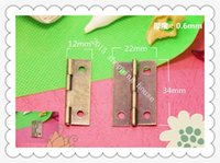 Wholesale 50pcs furniture accessories hole mm mm wooden box flat small hinge parts thick bronze color small package
