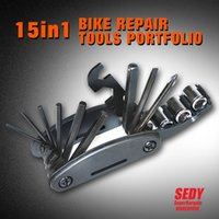 Wholesale 2016 New in Mountain Bicycle Tools Sets Bike Bicycle Multi Repair Tool Kit Hex Spoke Wrench Cycle Screwdriver Tool
