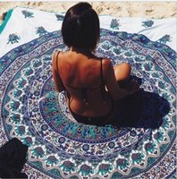 Wholesale Multi Color NEW Woman s Shawl Fashion Hot Sexy Beach Towel Totem Printing Round Beach Mat Special on the Beach