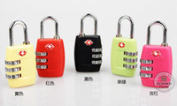 Wholesale TSA Password Lock Digit Combination Luggage Suitcase Door TSA NOT TSA Lock Padlock Customs Luggage Padlock Suitcase Tsa combination locks