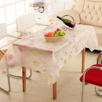 Wholesale European style rustic table cloth PVC waterproof plastic tablecloth No clean oilproof placemat table cover tea dining table mat