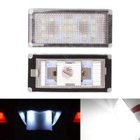 b w cars - 2Pcs Error Free SMD LED License Number Plate Light Lamps Bulbs Car Light fit for B M W E66 E65 Series i Li Li