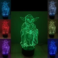 battery master switch - Mixed Master Yoda Jedi Master Yoda D Optical Night Light LEDs Acrylic Light Panel DC V AA Battery Factory