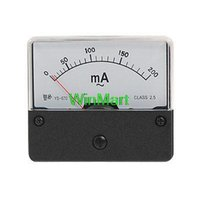 Analog Only 2.5 AC 0-200mA Wholesale-Plastic Case AC 200mA Analog Ampere Panel Meter Ammeter