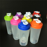 Wholesale high quality ml Promotion Water Bottles Shake Gym Protein Shaker Mixer Cup Blender Wit Stainless Whisk Ball Shakers