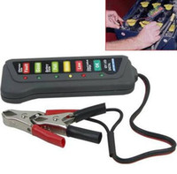 Wholesale by dhl fedex New V Car Motorcycle Battery Load Display Tester Alternator Tool With Clips