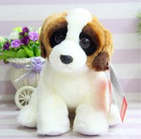 bernard bear - Good Quality Stuffed Animal Doll Genuine St Bernard Dog Plush Toys Birthday Gift Baby Toy Girls