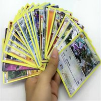 Wholesale Poke Cards card set English Anime cartoon Pocket Monsters Pikachu Cards Poker Battle Flash card For Children Toys christmas gifts
