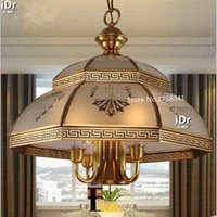 american meal - Creative personality Continental restaurant bedroom study full copper lamps American Pastoral lamp light meal Chandeliers Hotel Lighting