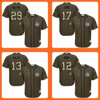 Wholesale Rangers Adrian Beltre Shin Soo Choo Joey Gallo Rougned Odor Green Salute to Service Stitched Baseball Jersey Top Quality