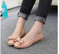 ballet style flats - 2016 Spring New Leisure Fashion PU Round Diamond Bow Peas Shoes Loafers Ballet Flats Heel Shoes Women British Style