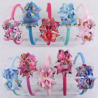 Wholesale New Cartoon Frozen bow hair band hair of children jewelry jewelry trade Princess flowers hair accessories