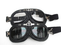 bicycle safety wear - G Unit Motorcycle Goggles Safety Matt Black Frame Scooter UV Clear Dark Smoke Lens Glasses Bicycle Sunglasses Eye wear T
