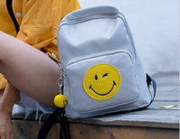 Wholesale Lady handbags smiling face backpack vogue of new fund of autumn winter joker leisure backpack institute wind bag