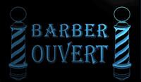 barber pole light - LS631 b OUVERT Barber Poles OPEN Shop Neon Light Sign jpg