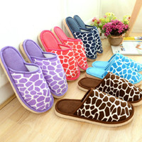 Wholesale Women Indoor Slippers For Men Deer Pattern Hot Winter Grain Lovers Male female Indoor Cotton Fashion Home Shoes Pantoufle Femme