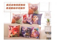 Wholesale Hot Movie Zootopia the rabbit Judy Hopps Nick Wilde red fox cute soft plush Hold Pillow Cartoon Animal toy For Kids