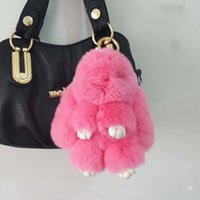 Wholesale 2017 high quality fashion comfortable little rabbit fur bag shoulder bag high end dead rabbit fur bag pendant