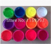 Wholesale Pink Color Shiny Fluorescent Powder Phosphor Pigment Powder For Decoration Material not glow in dark Luminous powder