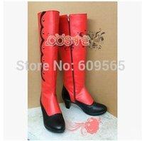 angelina butler - COSPLAY BOOTS Anime Black Butler Kuroshitsuji MADAM RED Angelina Dulles Patchwork Zip Customized Shoes NETGO