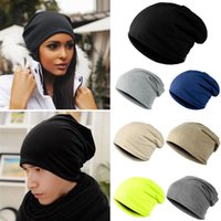 Beanie/Skull Cap Others Casual Wholesale-Fashion Style Unisex Men Knitted Winter Warm Ski Crochet Slouch Hats For Women Cap Cotton Skullies Blends Beanie
