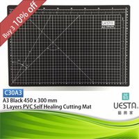 Wholesale Blue mm Rectangle Self Healing Layers PVC Cutting Mat A2 x45 cm x18 inch