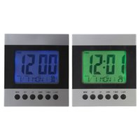 Wholesale New Arrival Colors LED Display Table Digital Alarm Voice Control Calendar Temperature Wall Clock