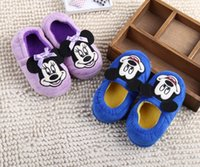 baby girl house slippers - Kids Children Winter Minnie House Home Slippers Shoes Toddler Pantufas Huracche Chausson Pantoufle Zapatillas Baby Girl Fille