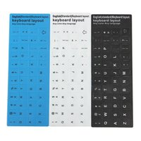 Wholesale Gifts Brand Black White Letters Waterproof Super Durable English US Layout Standard Keyboard Non transparent Stickers Alphabet
