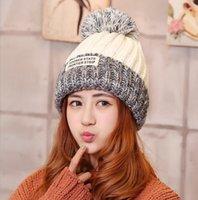 big blue bulb - New Fashion Crochet Hats with Big Wool Bulb Knitted Hat Beanie Skull Caps High Quality Winter Hot Sale