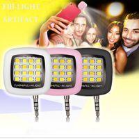 Wholesale NEW Selfie Light Torch Mini Portable Selfie Flash Light LEDS Flash Fill Light Match With Selfie LED Stick Monopod Tripod For Smart Phone