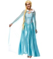 Wholesale Frozen Elsa Queen princess cosplay dresses adult halloween costumes for girls evening party dresses lace women maxi dresses