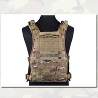 army tactical vest - Molle RRV Vest Back Panel Tactical Vest Emerson MOLLE Airsoft Hunting Camouflage Vest Plate Carrier Genuine Multicam