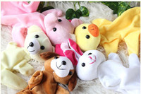 Wholesale 10pcs Family Finger Toy Cartoon Animal Velet Finger Puppet Plush Baby Favor Toys Dolls Kid Child Boys Girls Educational Hand Toy