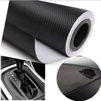 auto decal paper - cmx30cm D M Auto Carbon Fiber Vinyl Film Carbon Car Wrap Sheet Roll Film Paper Motorcycle Car Stickers Decal Car Styling