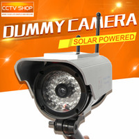 Wholesale Solar Energy Power Home Security Fake Camera Simulated Video Surveillance Indoor Outdoor Surveillance Dummy IR Led Fake Dome Camera