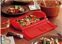 Wholesale 2PCS Kitchenaid Acessorios Tools De Cozinha Microwave Oven Steamer Food Steamer Steam Silicone Healthy Cooking Bowl Box