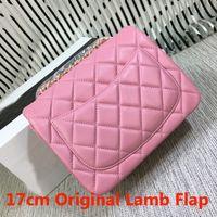 Wholesale excellent quality cm Original Lambskin Quilted Flap Bag Women Mini Flap Chain Bag Shoulder Crossbody Bag Mix Colors