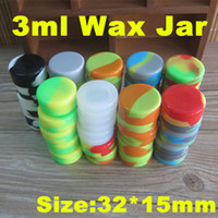 Wholesale FDA approved food grade ml Wax Container Silicone jars container Silicone Wax BHO Oil Container dab Containers for Dry Herb Ecigs