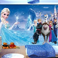 Wholesale Custom photo Silk D wallpaper for walls D family living kid room hotel TV background wall covering Snow Queen mural wallpaper
