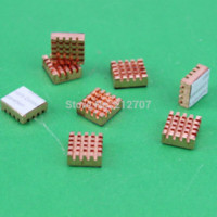 Memoria xbox Baratos-40PCS / Lot de cobre nuevo Xbox 360 VGA tarjeta DDR Ram memoria disipador de calor de refrigeración disipador de oro RHS-03 13 x 12 x 5 mm