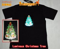bar apparel - Luminous Christmas Tree T shirt Gift for kids Children friends or families Flashing dress Music clothing Bar Dancing performance apparel