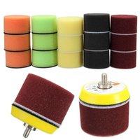 Wholesale 16Pcs A Set inch Flat Polishing Sponge Pad For Air Sander Car Polisher Thread M6X1