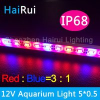 Wholesale m Hydroponic Systems Led Plant grow light Waterproof DC12V Led rigid strip Red blue red blue