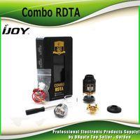 Wholesale Original iJoy Combo RDTA sub ohm Tank ml Combo RTA RDA Atomizer Interchangeable Gold plated Building Deck genuine DHL Free