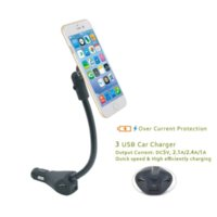 Wholesale EUGIZMO Universal Car Charger Magnetic Mobile Phone Holder with port USB Charging Port for iPhone Samsung Huawei ect