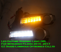 Wholesale High Quality E4 Emark Led Daytime Running Light DRL Fog light Lamp assembly for Mitsubishi PAJERO MONTERO with Switch