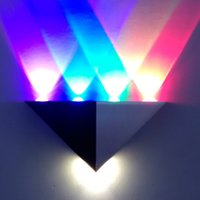 Wholesale Triangle shade aluminum spot lamp colorful decoration LED Spotlight lamp w w LED wall Light