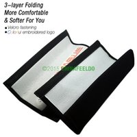 Wholesale 100pair Good product for Car Truck Embroidered Seat Belt Shoulder Cover Pads for Mixed Logo Order