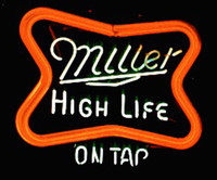 beer tap display - Miller High Life On Tap Neon Sign Real Glass Tube Custom Handcrafted Beer Bar Store Pub Motel Advertising Display Neon Signs quot x20 quot